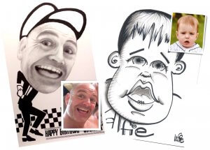 caricatures by post